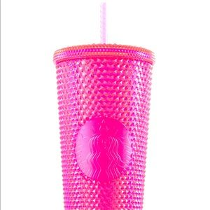Starbucks Holiday pink re-usable tumbler cup